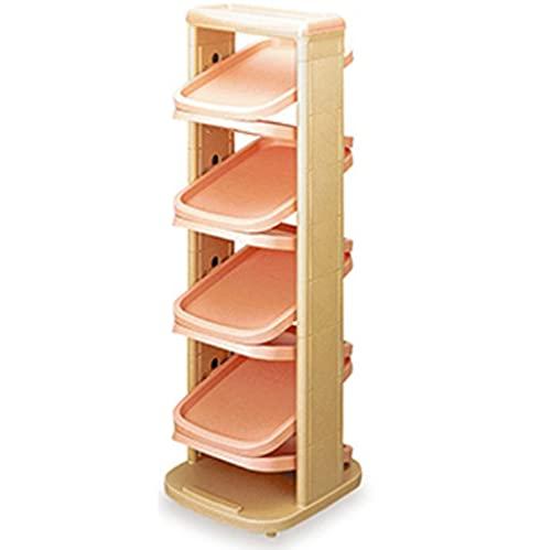 Portascarpe Rack per scarpe in plastica stretta, armadietto per scarpe multistrato per ingresso, mensola multifunzionale elegante e semplice (32,5 * 37 * 79 cm) scarpiera ( Color : Pink 8 layers )
