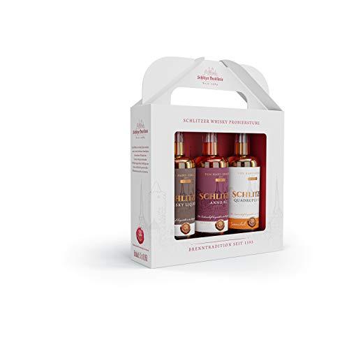 Schlitzer Destillerie Whisky Tasting Varianten Geschenkbox (3x 0,05L)