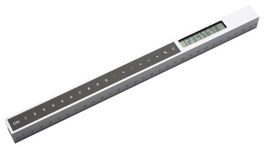 フラップ大腿境界LEXON RULERCAL:ホワイト 電卓