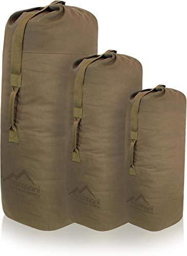 normani US Canvas-Baumwolle Seesack Duffle Bag Classic Sea Farbe Beige Größe 95 x 50 cm