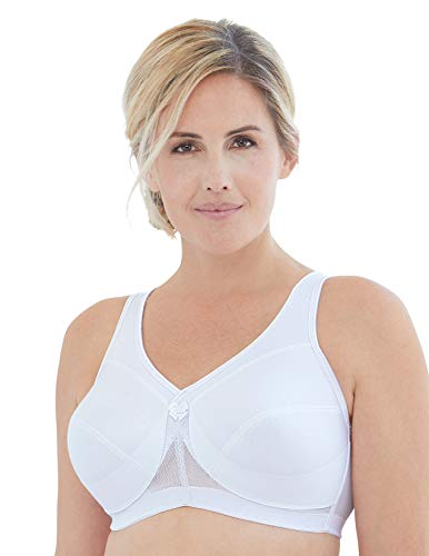 Glamorise Women's Full Figure MagicLift Active Wirefree Support Bra #1005, White, 38H