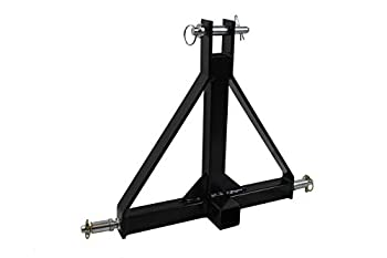 MAXXHAUL Standard 3-Point Hitch Adapter for Trailers & Farm Equipment with Category 1 Pins & 2  Hitch Receiver
