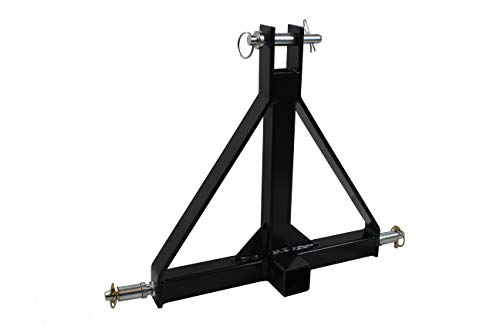 MAXXHAUL Standard 3-Point Hitch Adapter for Trailers & Farm Equipment with Category 1 Pins & 2