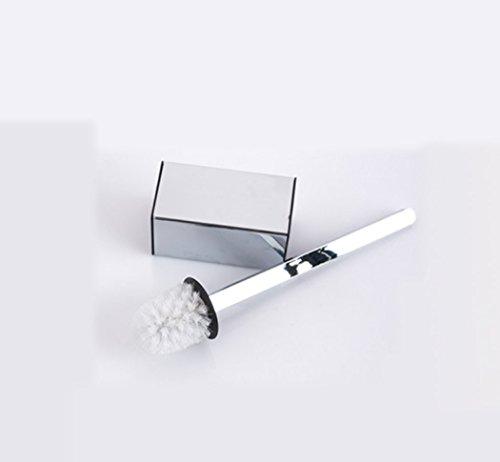 LD&P Badkamer Muur opknoping roestvrij staal Verdikking Zilver Kleur moderne Toiletborstel Eenvoudige Vierkant chroom schoonmaken toiletborstelhouder accessoire