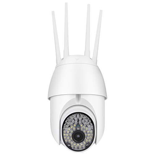 Demeras Cámara Inteligente 1080P WiFi CCTV Cámara con intercomunicador de Voz bidireccional Visión Nocturna en Color Cubierta Impermeable para Interiores y Exteriores(Enchufe de la UE)