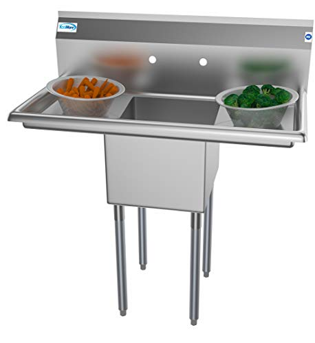 KoolMore 1 Compartment Stainless Steel NSF Commercial...