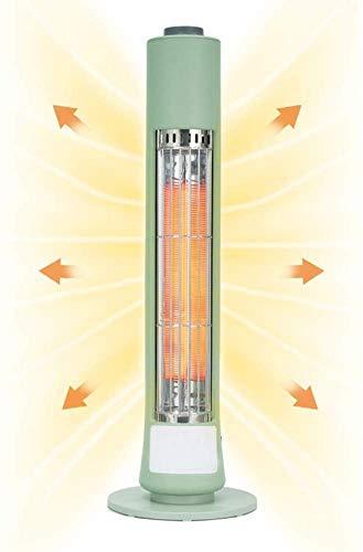 Calentador radiante infrarrojo de 400 W elemento calefactor de fibra de carbono material ignífugo carcasa fiebre rápida en 1 segundo uso en interiores interruptor de una tecla controles simples blan