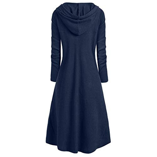 Lowest Prices! Womens Hooded Cloak Sweater | Vintage Plus Size Lace Up Cloaks Coat Hoodie Dress High...