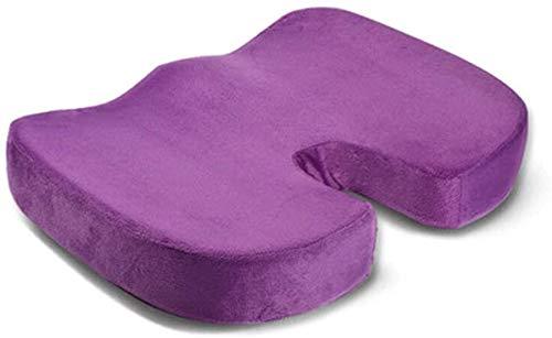 Leichtes Reisespeicher-orthopädisches Kissen, Kissen für Rückenschmerzen und Ischias, geeignet für Bürosessel, Autositz, Rollstuhl,Purple