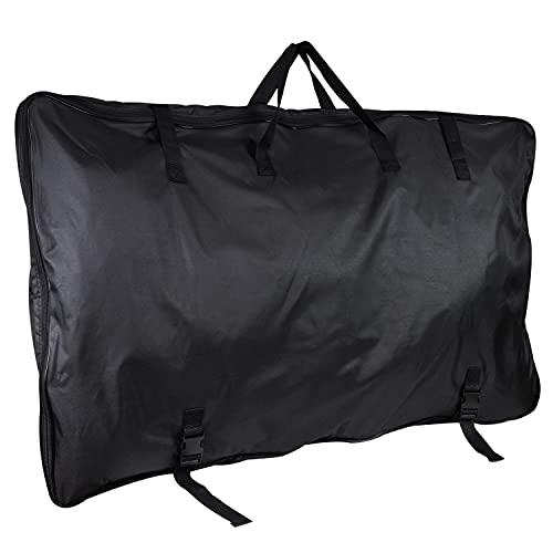 Aufbewahrungstasche für Klapptische - 120 x 75 x 8 cm - Transport Tasche - Tragetasche Campingtisch - schwarz - 600D Polyester - wasserdicht - mit Zugriemen