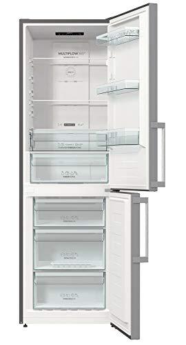Gorenje NRK 6192 ES5F frigorifero frigorifero frigorifero 185 cm/302 l/No Frost Plus/Multi Airflow System/Argento/A++
