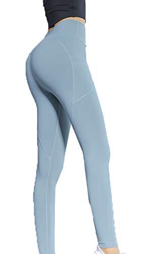 cxzas852 Pantaloni da Yoga per Glutei, Pantaloni Skinny Sottili a Vita Alta con Pantaloni da Tasca tascabili