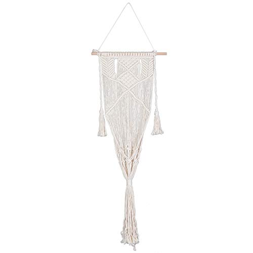 NITRIP Hand‑Made Bohemian Cotton Hanging Chair, 51.2X19.7In No Smell Comfortable Hanging Swing, Terraces for Garden
