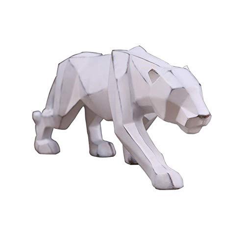 LOSAYM Esculturas De Pared Estatuas Estatuas De Leopardo Animales Retro Resina Arte Artesanía Decoración del Hogar