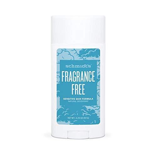Schmidt's Natural Deodorant for Sensitive Skin - Fragrance-Free, 3.25 ounces. Stick for Women and Men