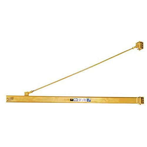 Great Features Of Contrx Wall-Mount Overbraced Tie-Rod Jib Crane, 6000 Lb. Capacity, 12' Span, Wide-...