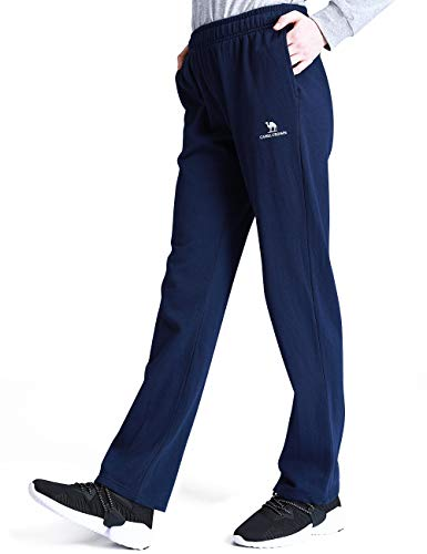 CAMEL CROWN Women's Active Jogger Pants Sweatpants Soft Casual Trousers for Training Athletic Running Gym Workout Track Dark Blue