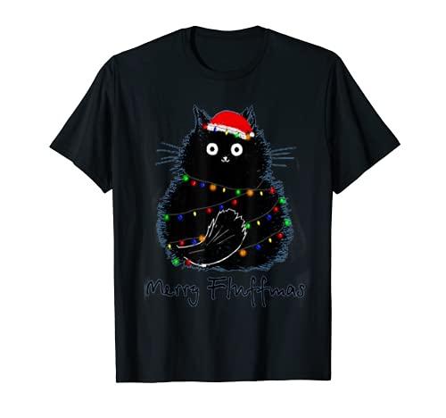Gato Feliz Feliz Feliz Regalo Divertido Para Navidad Camiseta