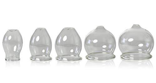 Lauschaer Glas 4er Feuer- Schröpfglasset d Kugel ca.35-45-52-60mm mundgeblasen handgeformt Original