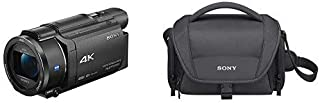 Sony FDRAX53/B 4K HD Video Recording Camcorder (Black) with Sony LCSU21 Soft Carrying Case for Cyber-Shot and Alpha NEX Ca...