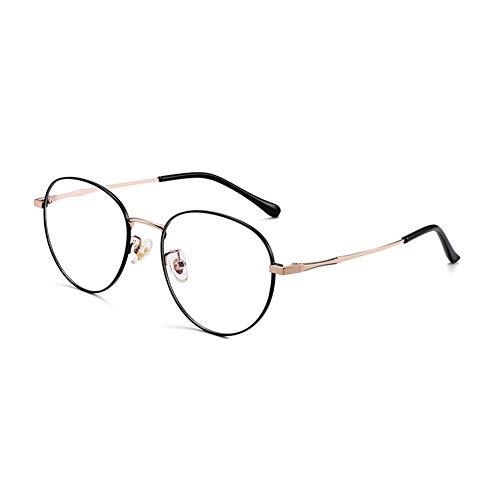 HQMGLASSES Gafas de Lectura multifocal de Titanio Puro Retro