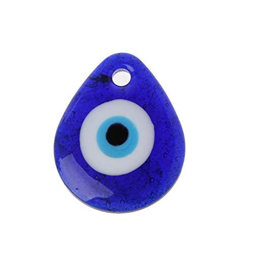 Follwer0 Eye Charm Anhänger Family Einzelne Glas Blau Evil Home Schutz Amulett Geschenk