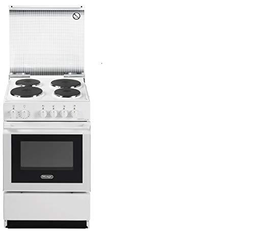 De Longhi Cucina Elettrica SEW 554 PN 4 Piastre Elettriche Forno Elettrico Statico Classe B Dimensioni 50 x 50 cm Colore Bianco