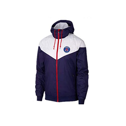 JieYanLufusi New Men Sports Jacket Leisure Paris Training Suit Windrunner Windbreaker Running PSG Suit Spring Autumn White