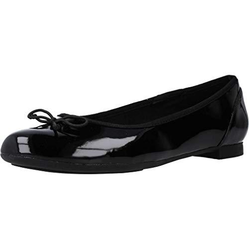 Clarks Couture Bloom, Bailarinas para Mujer, Negro (Black Patent), 40 EU