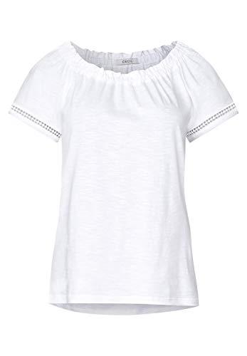 Cecil Damen 313371 T-Shirt, White, X-Large (Herstellergröße:XL)