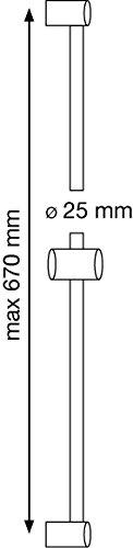 AquaSu – Duschset Barca, Duschgarnitur mit 5-fach verstellbarer Handbrause, Seifenschale, Chrom - 2
