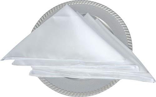 Kit 12 Guardanapos branco tecido Oxford Alto padrão - 40x40cm