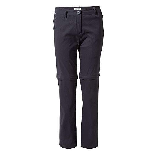 Craghoppers Kiwi Pro Convertible Pantalon Femme, Bleu Marine, 10