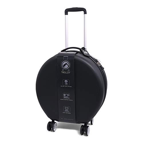 Round Shaped Trolley koffer, 53 cm, 42 L, Black