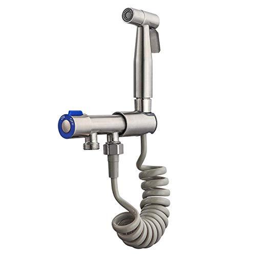YUXIwang Kit de spray de bidé Compatible with la higiene personal, de baño Compatible with mascotas, Closestool, en cuclillas Pan - Bidé Conjunto Pistola de pulverización del aerosol del bidé Cabeza d
