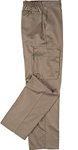 Work Team Pantalón. Elástico en cintura, multibolsillos: dos bolsos laterales en perneras. HOMBRE Beige 48