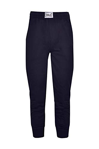 Everlast 22M302F84 Pantaloni Tuta in Cotone garzato da Uomo, Blu Navy (M)