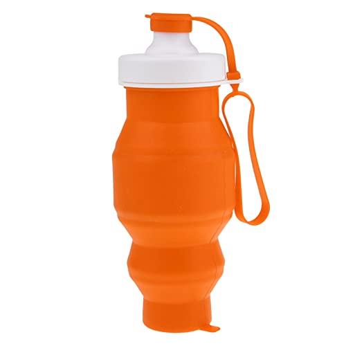 WYDMBH Botella de Agua Plegable Camping Plegable Copa de Agua Taza de café Taza de café Botella de Olla 1000ml Contenedor 4 Color (Color : Orange)