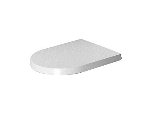 Duravit 0020190000 Toilet Seat with ME by Starck Compact Absenkautomat, Stainless Steel Hinges / White