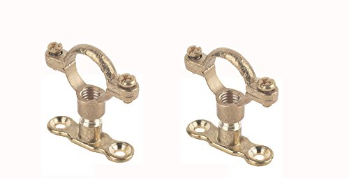 Visua Cast Brass Munsen Ring & Back Plate Pack of 2, for 22mm Pipes, M10 Thread