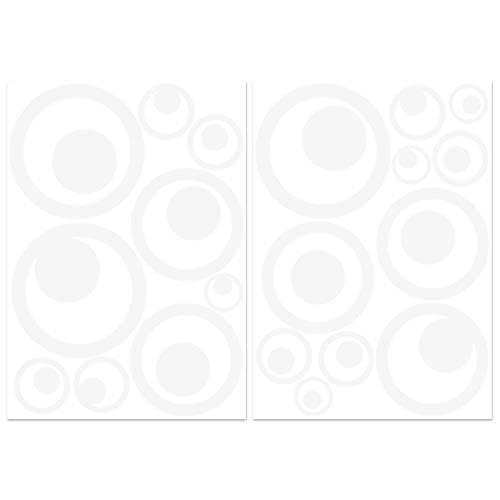 Wandkings Vogelschutz und Fensterschutz, 20 Retro Kreise Aufkleber zum Schutz vor Vogelschlag, weiß