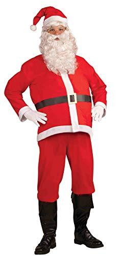 Forum Novelties mens Promotional Santa Claus Suit Adult Sized Costumes, White/Red, X-Large US