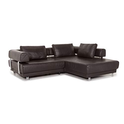 Ewald Schillig Brand Face Leder Ecksofa Braun Dunkelbraun Sofa Funktion Couch #12990