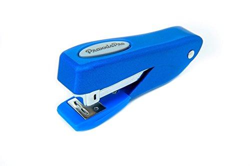 Small Office Stapler, PraxxisPro Fortis Compact Grip, Mini Desktop Stapler (Blue)