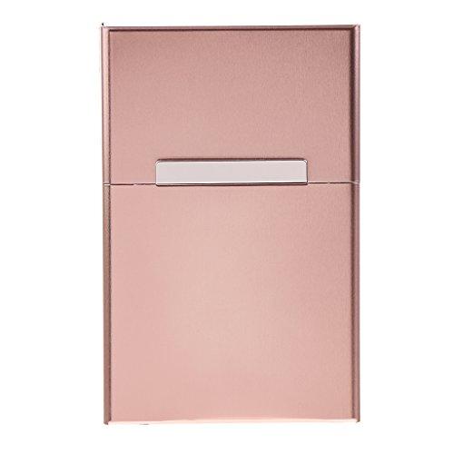 dailymall 1PC Fashion Aluminum Cigar Box Storage Case for Women Ladies Gift - Coffee