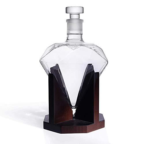 BIASTNR Karaffe für Whiskey, Likör, Scotch, Rum, Bourbon, Wodka, Tequila, Wein, 1000 ml