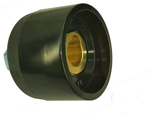 Gniazdko do wbudowania kabla spawalniczego gniazdo do zabudowy wzmocnione (wysoka ochrona) 13 mm do trzpieni 12 mm 500a TRAK BE SK do 70 mm² - 95 mm² średnicy kabla