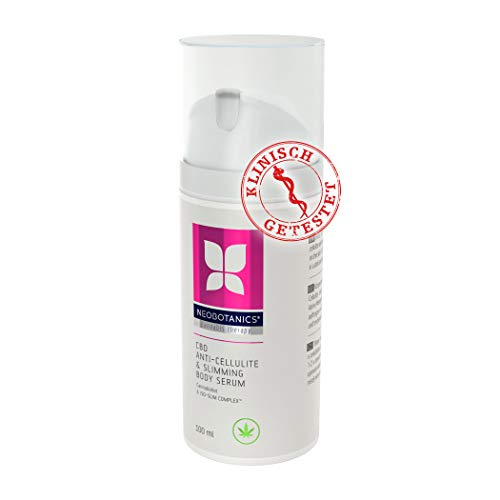 NEOBOTANICS® CBD Anti Cellulite & Slimming Booster Body Serum, mit dem Beauty Super-Wirkstoff Cannabidiol, L-Carnitin und Koffein - strafft und stärkt das Bindegewebe - Steigert die Kollagenproduktion