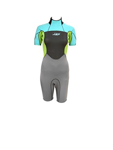 KSP Damen Neoprenanzug Wise Woman Shorty Blau Größe L Full Woman Neoprenanzug für Kitesurf Wind