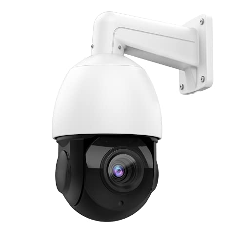 5MP Outdoor PTZ 18X Optical Zoom PoE IP Camera, 4.7~84.6mm Lens,Pan/Tilt/30x Digital Zoom,Speed Dome with 165ft IR Night Vision, H.265, IP66, MotionDetection,Compatible with Hikvision/Onvif Protocol